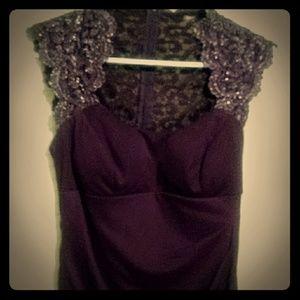 Purple Xcape Midi Dress